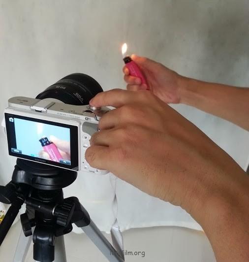 如何拍摄打火机的电光火石