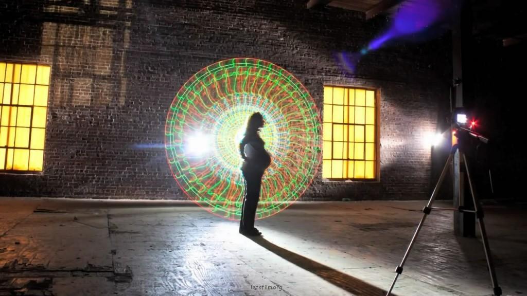 光影涂鸦原理及传感器示范