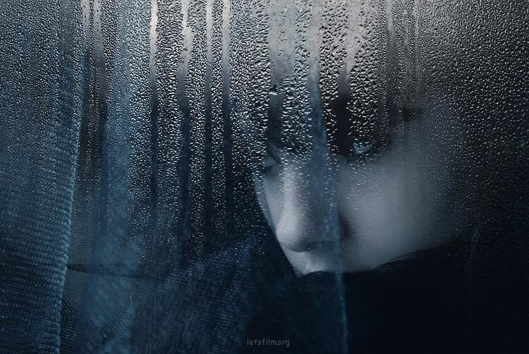 忧郁的蓝色调摄影作品
