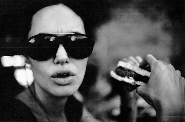 Black & White Portraits of Angelina Jolie by Brad Pitt (4)