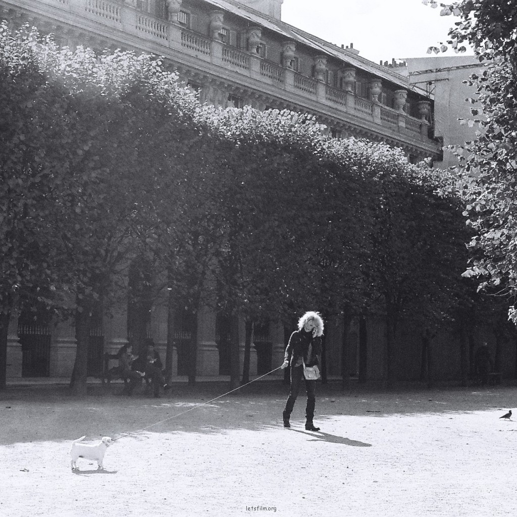 Woman & her dog at Royal Garden