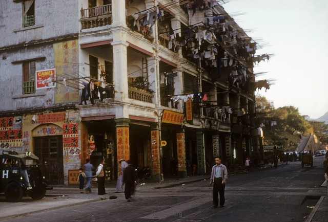 Kowloon - Hong Kong street scene - 29 Dec 53