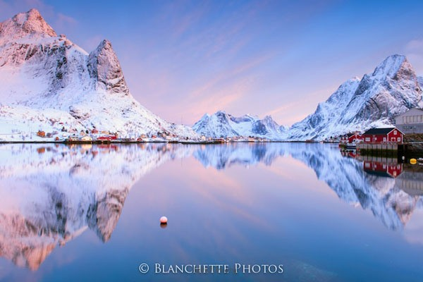 Reine Fjord at Sunrise