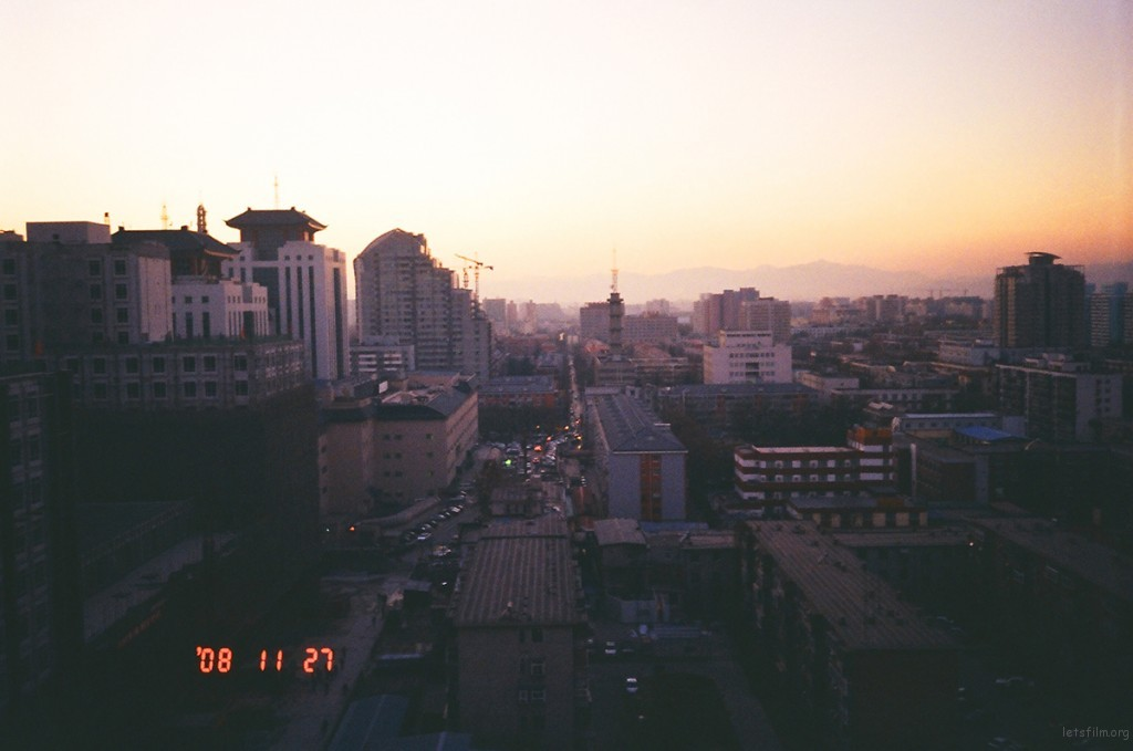 公主坟城乡大厦高层俯视西山