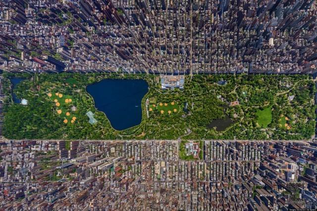 纽约的大楼真是太可观了。
