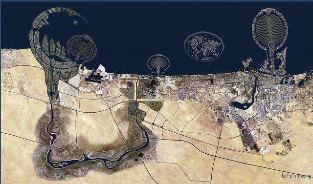 迪拜的地形很像被ET登录过…
