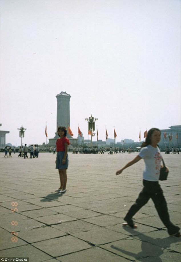 1985 and 2005, Tiananmen Square, Beijing, China