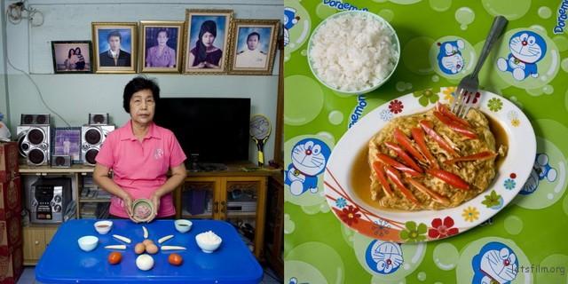 泰国曼谷,Boonlom Thongpor,69岁,酿煎蛋