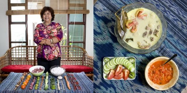 印尼,Eti Rumiati,63岁,椰奶牛肉蔬菜汤