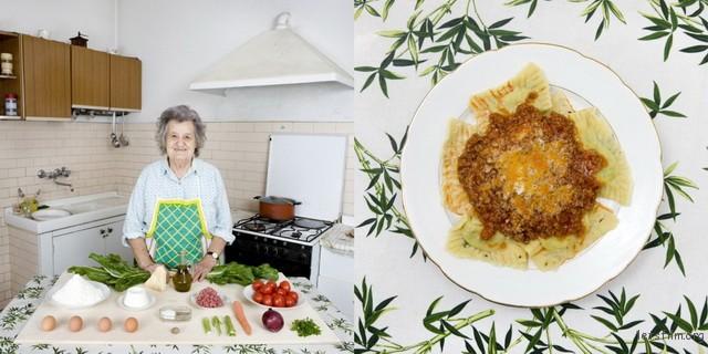 意大利,Marisa Batini,80岁,瑞士甜菜馄饨佐肉酱