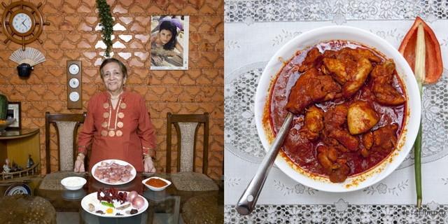 印度孟买,Grace Estibero,82岁,酸辣鸡肉咖喱