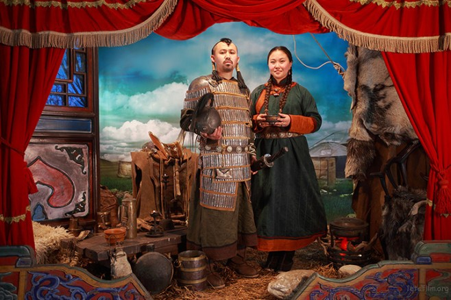 A couple in historical dress