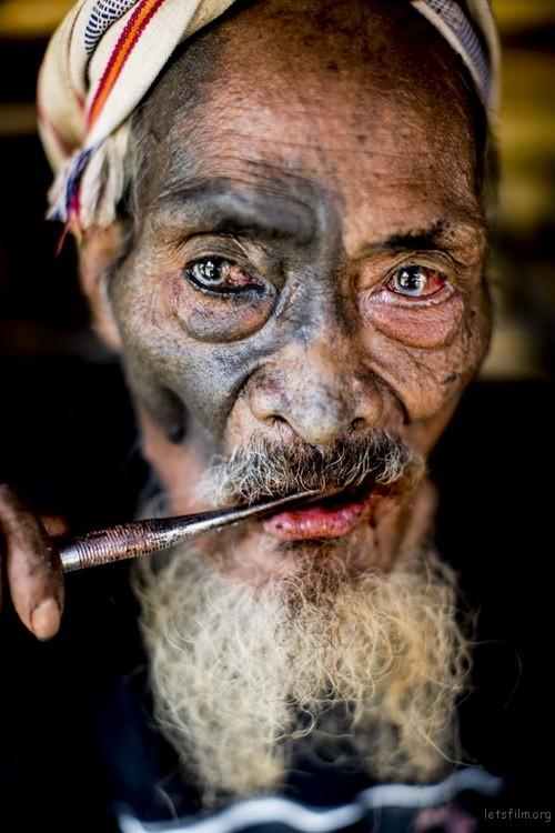 Ratu Dangu Duka chewing betel before the Pasola in Sumba, Indonesia.