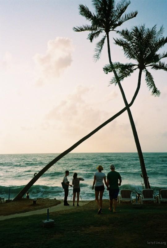 清晨,酒店对面就是大海