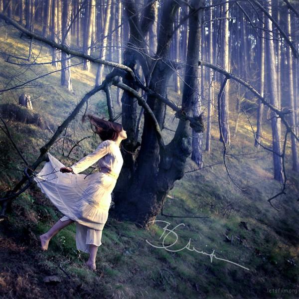 Babsi wird von einem Baum mit merkwürdig herabhängenden Ästen festgehalten.