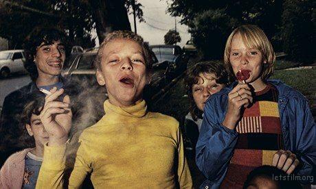 Mark Cohen's Boy in Yellow Shirt Smoking Photograph: Mark Cohen