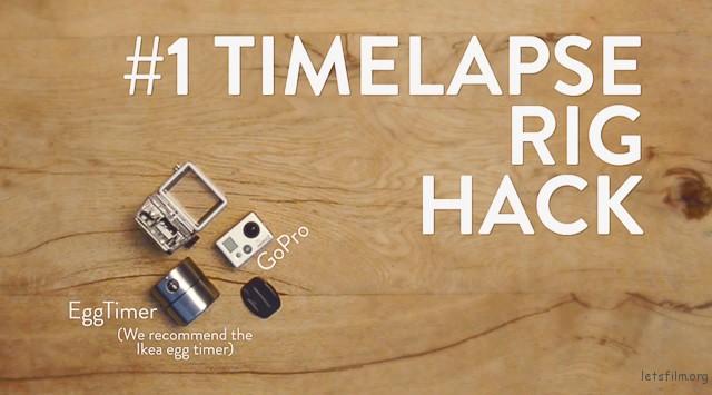 ▲准备道具:Egg Timer计时器、Go Pro摄影机。