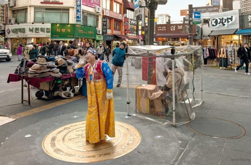 卖帽商人,仁寺洞,首尔