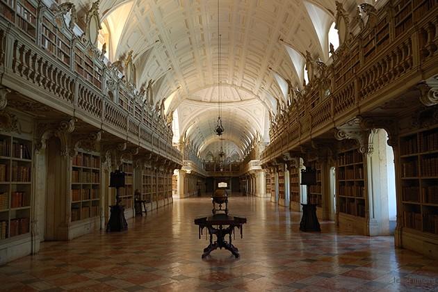 葡萄牙马夫拉宫图书馆。