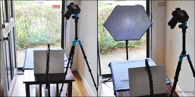 ▲柔光罩是比较专业的用光方法。