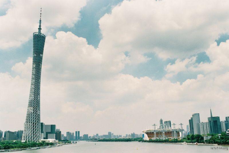 广州塔,海星沙;新中轴线上的美景美不胜收