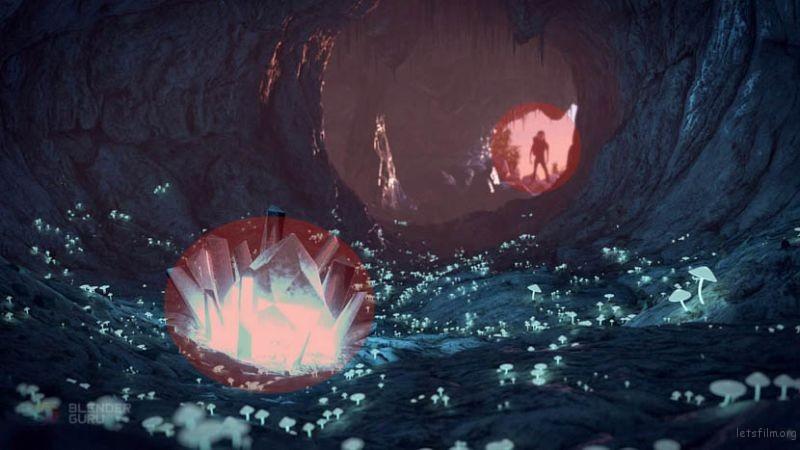 探索者与水晶两者之间的对比大小和对比度都得到平衡