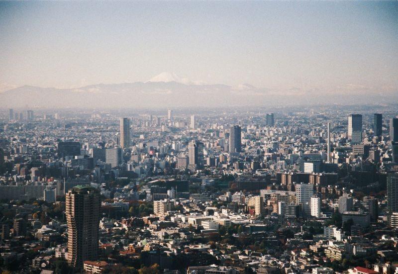 Nikon F80 摄于东京东京塔上