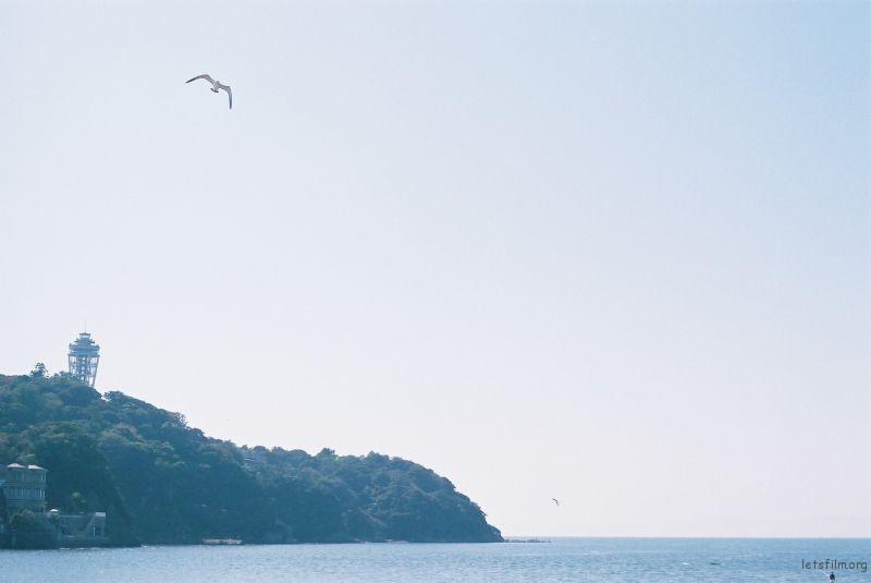 在去岛的路上,秋天的时候还有很多人在冲浪。