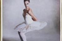 巨型 20X24 宝丽来拍摄芭蕾舞蹈员