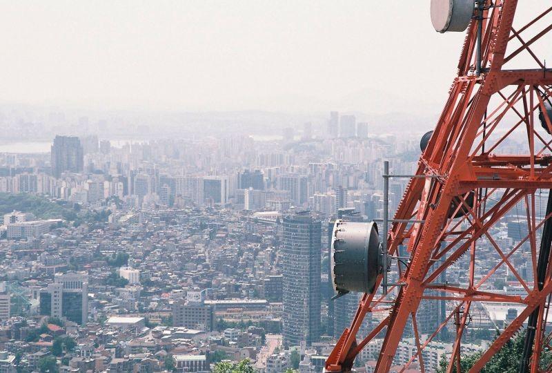 拍摄于2015年6月南韩,Nikon F60 拍摄 拍摄于南韩首都首尔市,南山塔(首尔塔)