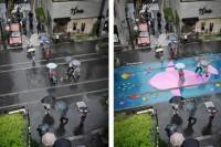 最美不是下雨天,是下雨天之后的地面——将来去首尔玩,多了一道雨季风景