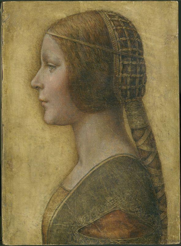 達文西《美麗公主》。圖取自Wikipedia。1