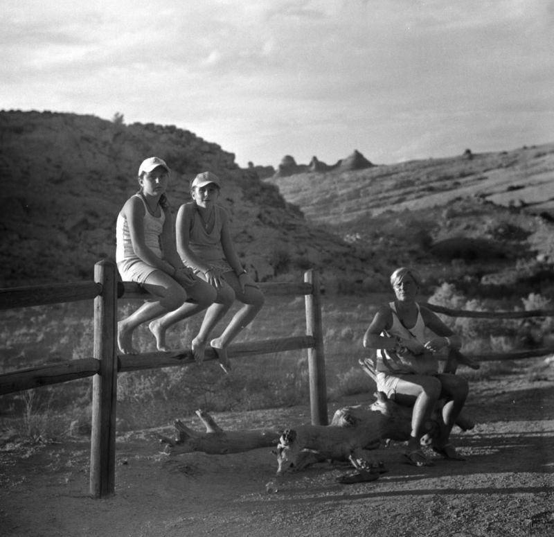拱门的路上三母女,Moab,犹他州