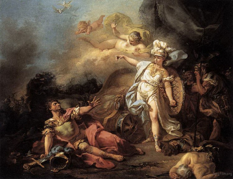 The-Combat-of-Ares-and-Athena_Jacques-Louis-David_1771-750x577