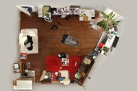 平面化的拍摄效果,摄影师教你拍摄有趣的房间肖像
