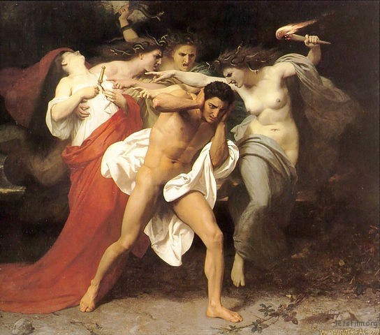 The-Remorse-of-Orestes_William-Adolphe-Bouguereau_1862