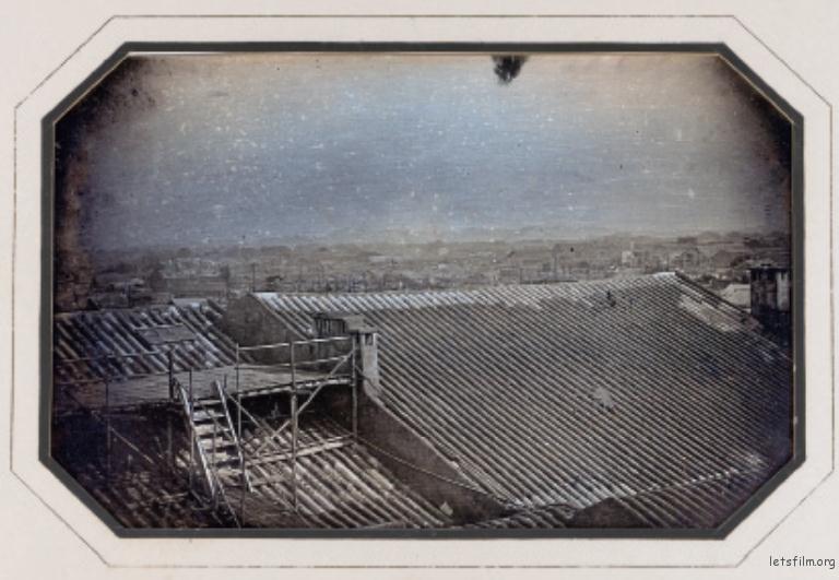 于勒·埃及尔。广州全景,1844年11月。达盖尔摄影法。