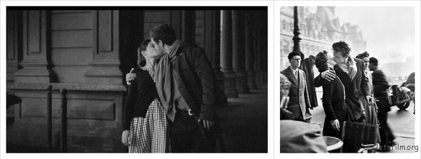 Le baiser de l'hôtel de ville (Kiss by the Hôtel de Ville), 1950, Robert Doisneau