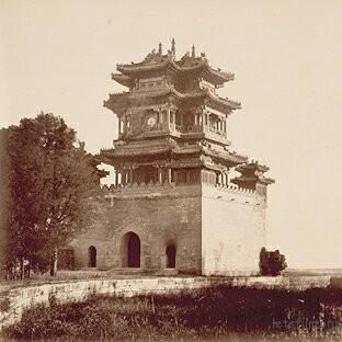 清漪园文昌阁,1860年,Felice Beato