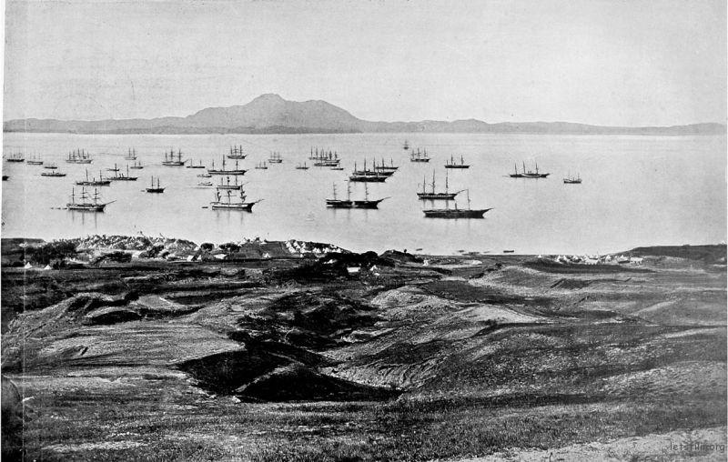 英军舰队在大连湾,1860年,Felice Beato