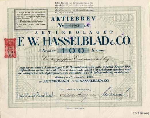 F.W. Hasselblad & Company