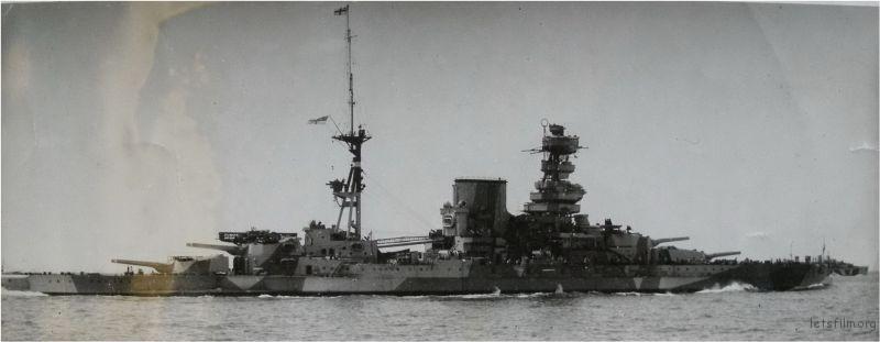 第一次改装后的 HMS Barham 号