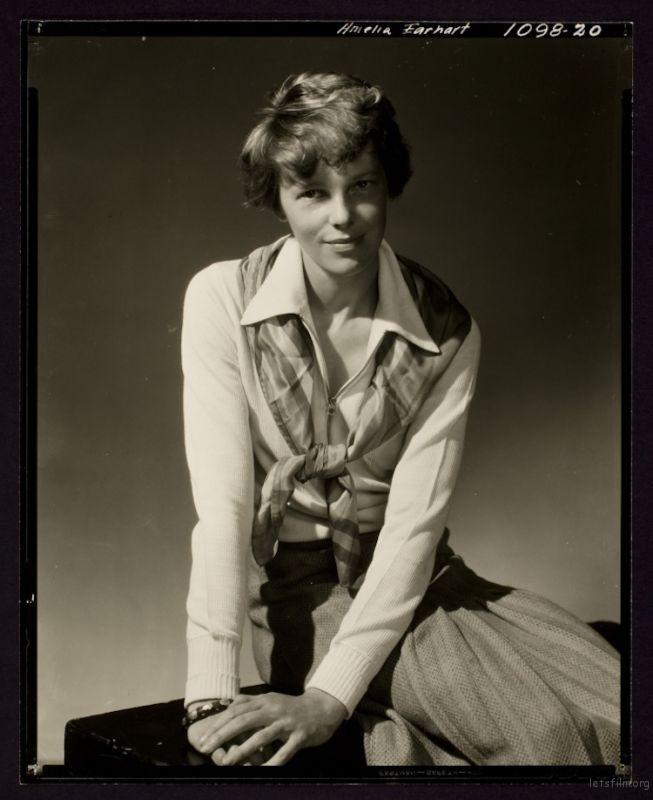 "Edward Steichen, ""Amelia Earhart"" (1931)"