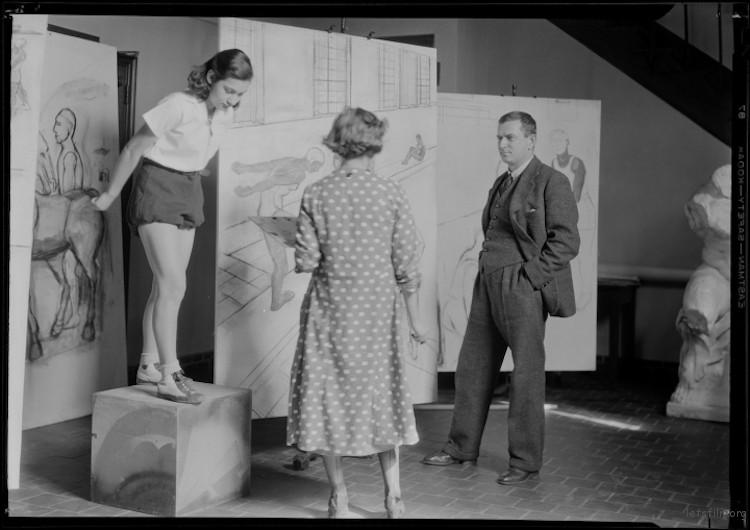 "Lewis W. Hine, ""Art Class"" (1935)"