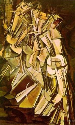 Nude Descending a Staircase, 1912 by Marcel Duchamp