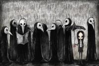 台湾插画家笔下的大眼女孩,是阴暗忧郁还是纯真童话?