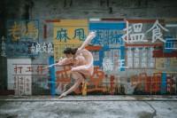 香港街头的舞者,与城市交织而成的唯美影像