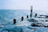 [12236] 冬季的海风,蓝色的天