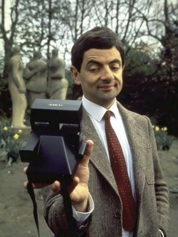 憨豆先生,1987,宝丽来相机
