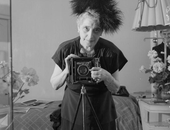 Photographer Florence Vandamm, 1947